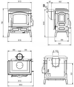 Печь Nordica Isetta Evo 4.0. Фото 3